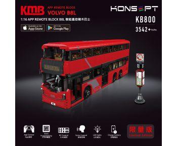 [預訂] 1:16 九巴B8L智能遙控積木巴士 (3542 塊)