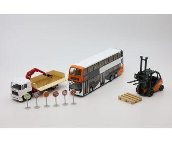 龍運巴士、貨車及摌車模型套裝
