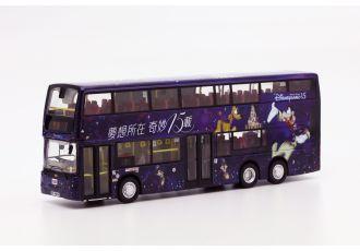 1:76 模型 - 九巴丹尼士歐盟第四代環保巴士十二米 (Mickey 主題) (路線 7)