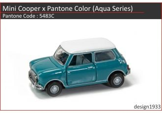 合金車仔 - Mini Cooper x Pantone Color (Code : 5483C)