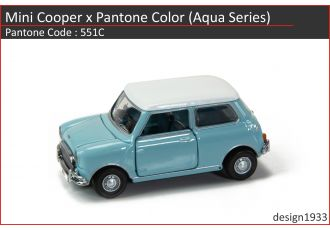 合金車仔 - Mini Cooper x Pantone Color (Code : 551C)