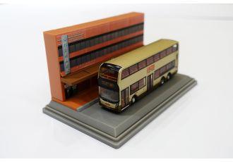 合金車仔 - 「情景模型」九巴 E500 Facelift 金巴 (路線961)