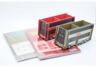 紙巴士置物架 - 紅巴/金巴