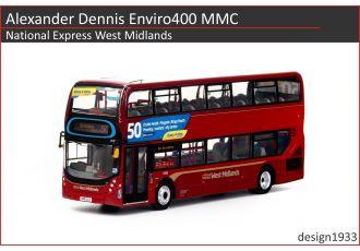 1:76 模型 - Alexander Dennis Enviro400 MMC National Express West Midlands