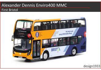 1:76 模型 - Alexander Dennis Enviro400 MMC First Bristol