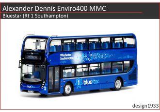 1:76 模型 - Alexander Dennis Enviro400 MMC Bluestar (Rt 1 Southampton)