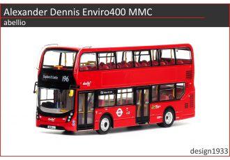 1:76 模型 - Alexander Dennis Enviro400H MMC abellio