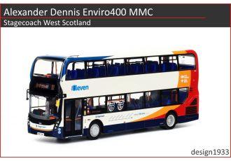 1:76 模型 - Alexander Dennis Enviro400 MMC Stagecoach West Scotland