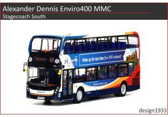 1:76 模型 - Alexander Dennis Enviro400 MMC Stagecoach South