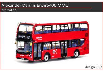 1:76 模型 - Alexander Dennis Enviro400H MMC Metroline
