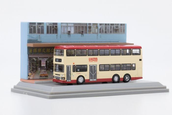 合金車仔 - 「情景模型」九巴丹尼士巨龍11米巴士 (路線16)