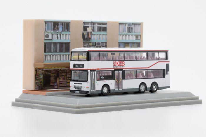 合金車仔 - 「情景模型」九巴丹尼士巨龍11米巴士 (路線46X)