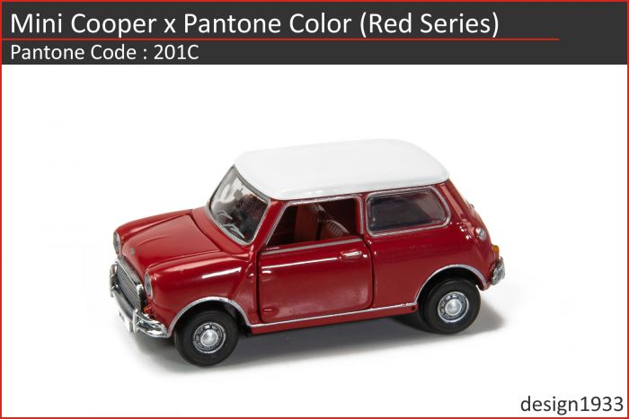 合金車仔 - Mini Cooper x Pantone Color (Code : 201C)