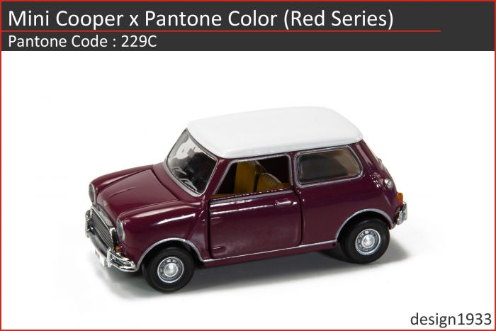合金車仔 - Mini Cooper x Pantone Color (Code : 229C)