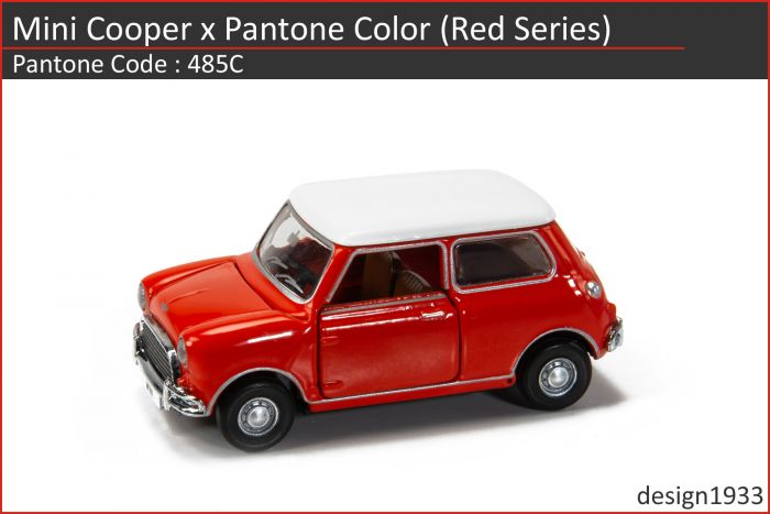 合金車仔 - Mini Cooper x Pantone Color (Code : 485C)