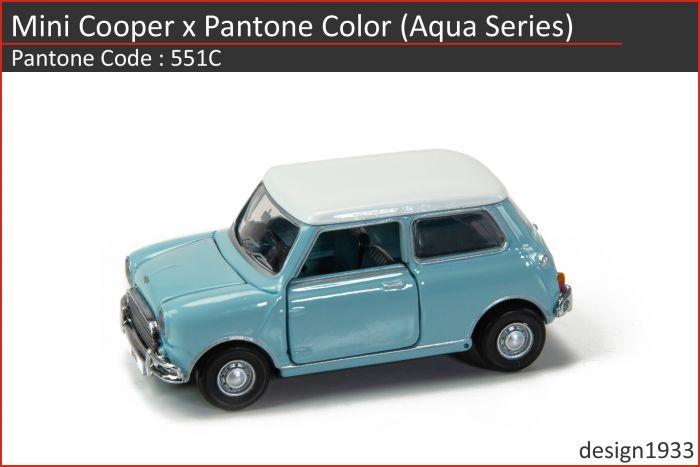合金車仔 - Mini Cooper x Pantone Color (Code : 551C)