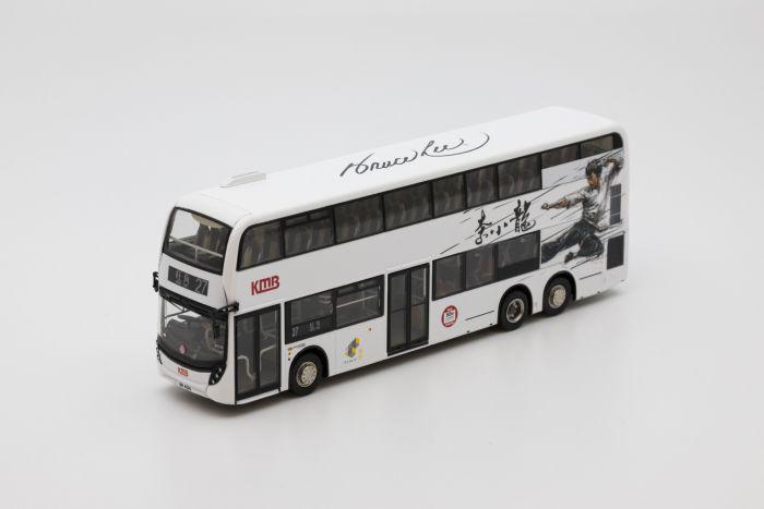 1:76 模型 - 九巴丹尼士歐盟第六代環保巴士十二點八米「李小龍」主題  (路線 27)