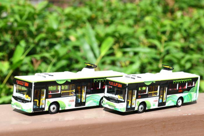 1:76 模型 - 九巴零排放超級電容巴士 (路線284 - 濱景花園)