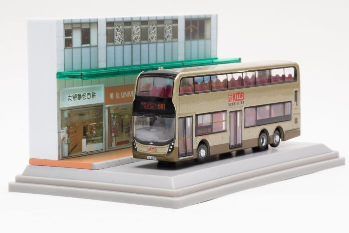 合金車仔 - 「情景模型」九巴丹尼士Facelift 12米金巴 (路線681)